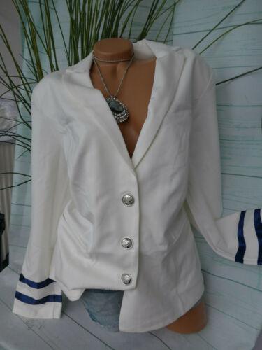 311 W 46 a 52 Bianco Crema Fiora Blue Blazer Giacca sweatblazer DONNA TG