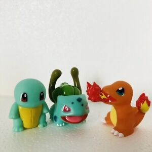 Charmander-Squirtle-amp-Bulbasaur-Pokemon-Nintendo-Bandai-3-Toy-Figures-Bundle-f