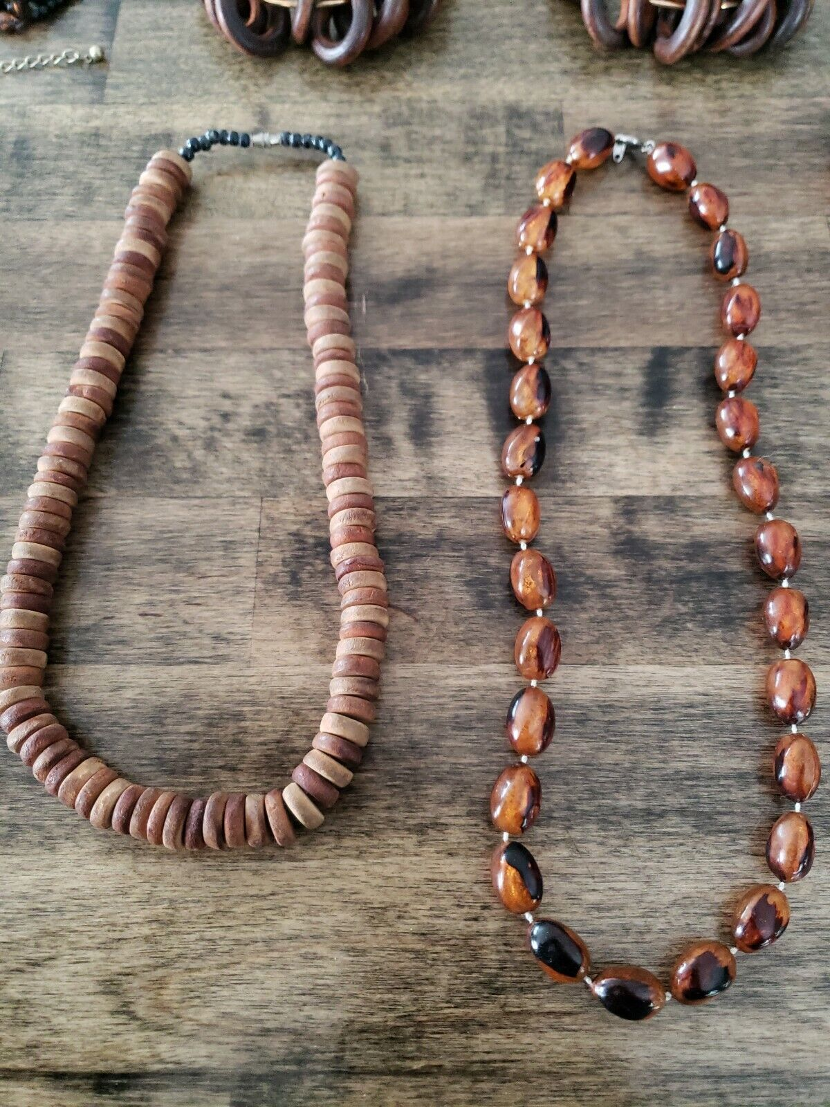 Costume Jewelry Lot Brown Necklace Bracelet Earin… - image 6