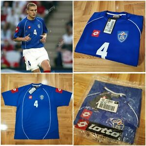 Auth-Vintage-Yugoslavia-Lotto-Jersey-Vidic-Player-Issued-XXL-2002-03-Home-Shirt