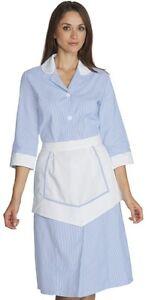 pour Robe bleue domestique 7362 blanche service tablier qxB7xRp