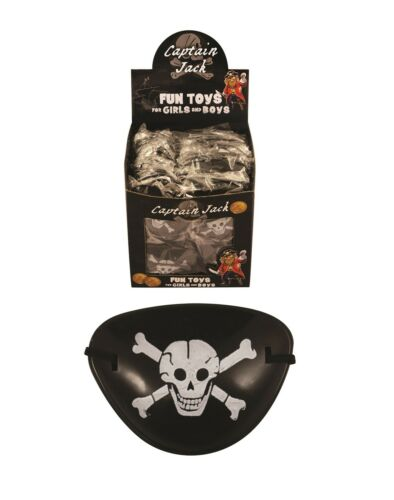 36x PIRATE EYE PATCHES Fancy Dress Captain Jack Party Costume Party Bag Filler