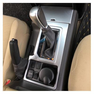 Chrome Silver Gear Shift Knob Case Cover Trim For Toyota Prado FJ150 2010-2016 x