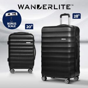 Wanderlite 2pc Luggage Sets Travel Suitcases Set TSA Hard Case Lightweight