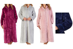 Image is loading Slenderella-Womens-Luxury-Thick-Flannel-Fleece-Dressing- Gown- aa7375bdd