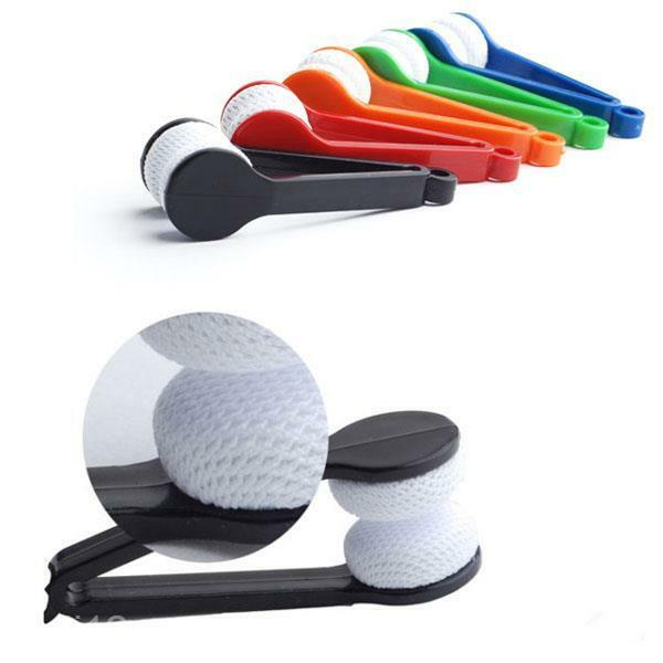 Sunglasses Goggles Lens Cleaning Brush Clip Spectacles Wiper Microfiber Cleaner