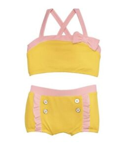 8f212342e2 NWT Janie and Jack  Adorable Yellow   Pink Ruffle 2-Piece Swimsuit ...