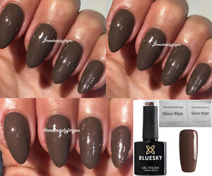 BLUESKY-GEL-POLISH-BROWN-MOCHA-SHIMMER-BROWN-PINK-A14-NAIL-UV-LED-SOAK-OFF