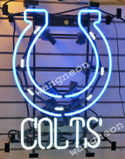 New Indianapolis Colts NFL Man Cave Neon Sign Beer Bar Light FAST FREE SHIPPING
