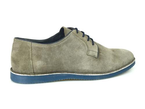 Silver Street Jackson Mens Grey Suede Casual Derby Shoes