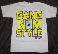 Small Mens Graphic T-shirt Psy K Pop Korean Gangnam Style Dance Rap Music Tee