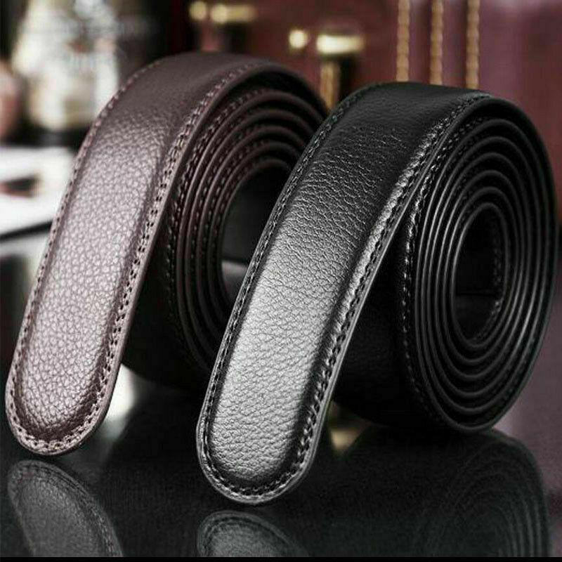 Herren Ersatz Echtes Leder Automatik Gürtel Gürtelriemen Belts ohne Schnalle