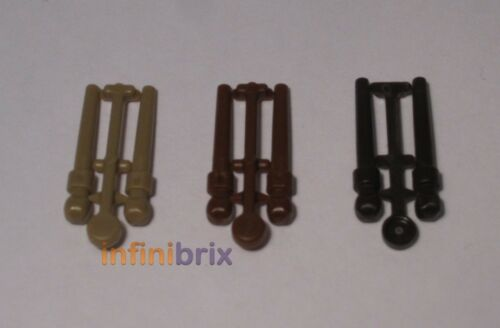 6x Lego Wands for Harry Potter Minifigures NEW Dark Tan, Brown, Dark Brown