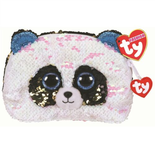 Ty Beanie Babies 95825 Ty Gear Bamboo the Panda Accessory Bag Sequined