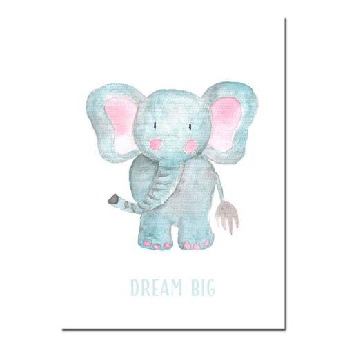 Woodland Animal Canvas Child Poster Nursery Quotes Wall Art Print Bedroom Decor