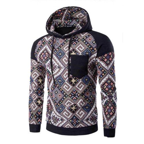 Fashion Men Long Sleeve Winter Hoodie Hooded Sweatshirt Tops Jacket Coat Outwear