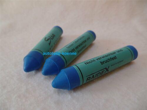 3x Fettsignierkreide SISA blau Reifen Kreide Marker Reifenkreide Radwechsel