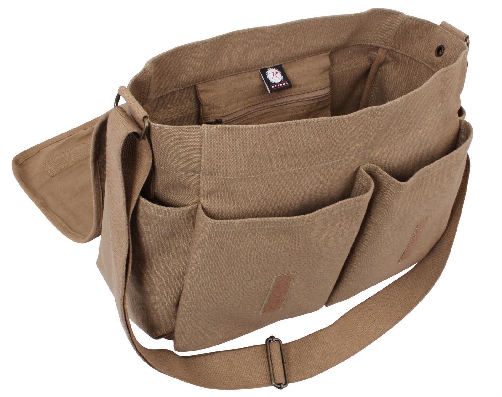 b376c971f5 Rothco HW Canvas Classic Messenger Bag Mocha One Size 613902975194 ...