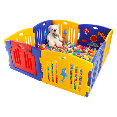 Safety Toddler Playpen Baby Educational Toy Indoor Outdoor Play Yard Fence UK