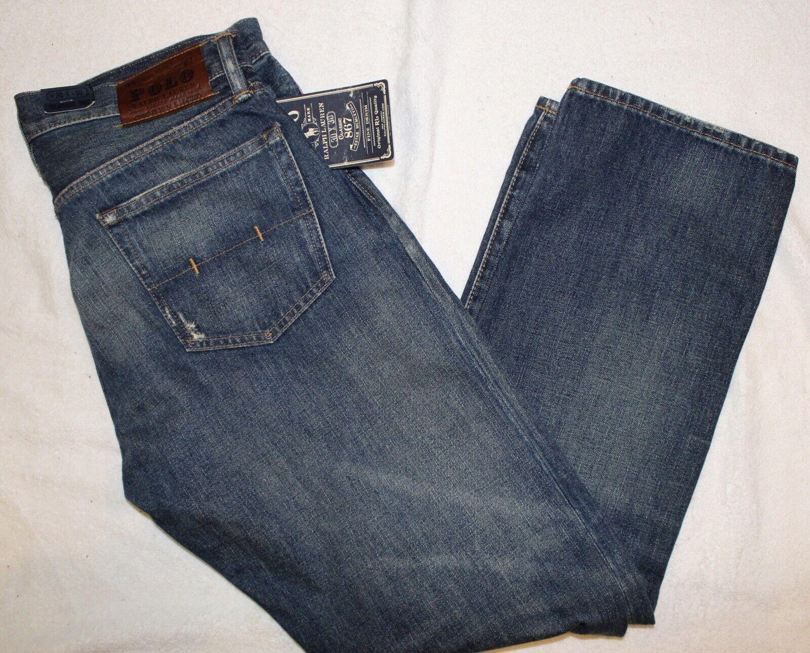Polo Ralph Lauren Mens Classic 867 bluee Jeans NWT 32 x 34