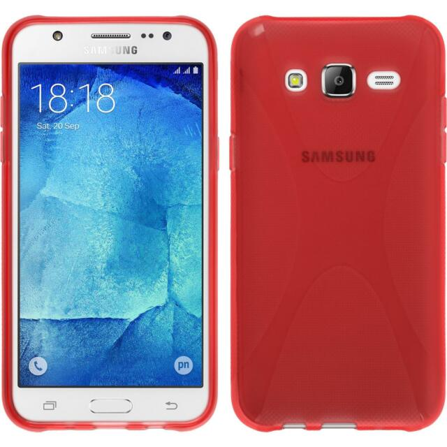 Funda de silicona Samsung Galaxy J5 (2015 - J500) X-Style rojo