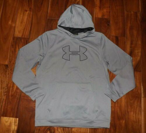 UNDER ARMOUR Gray Logo Hoodie Sweatshirt NWT Mens Size L Large