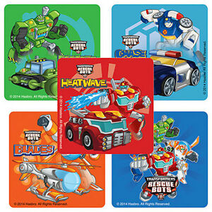 Image Is Loading 15 Transformers Rescue Bots Stickers Party Favors Teacher