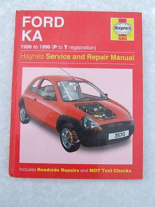 Image Is Loading Ford Ka  Haynes Service Repair