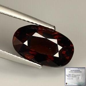 (IGL-CERTIFY) Extremely Rare 4.423 Ct Natural Dark Brown KORNERUPINE Oval Gem !!