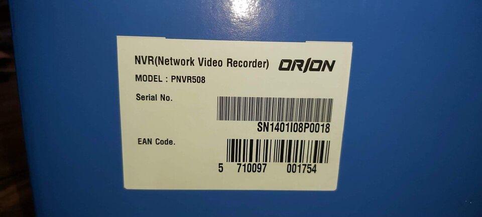 Andet mærke, ORION ONVR508, Harddiskoptager