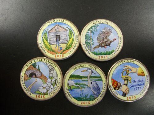 2015 Complete Set of National Parks Colorized Quarters