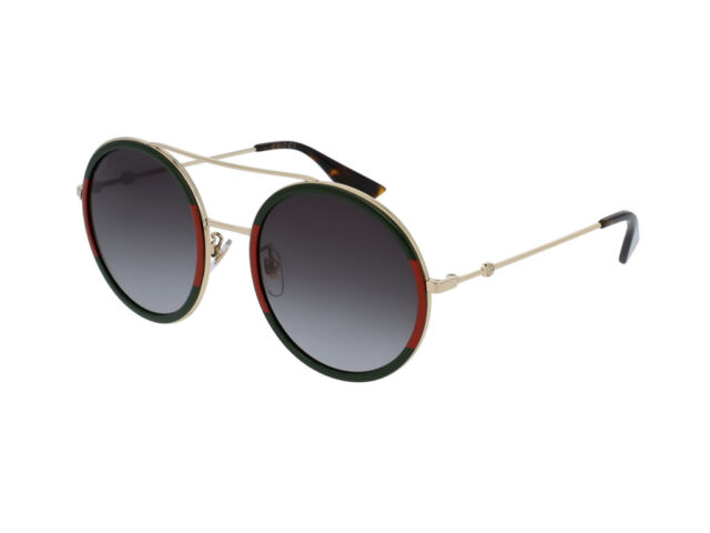 d4efde28adf Gucci Sunglasses oro verde faded man woman round GG0061S adjustable 003
