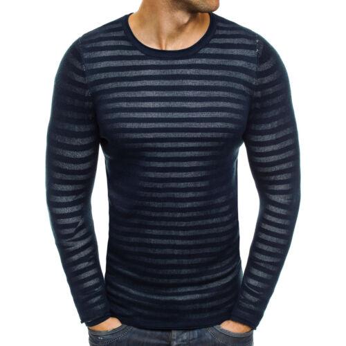 OZONEE LOUIS PLEIN 153024 Herren Pullover Pulli Langarmshirt Sweatshirt Slim-Fit