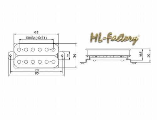 Hals//Neck Position Humbucker ML-Factory® weiß