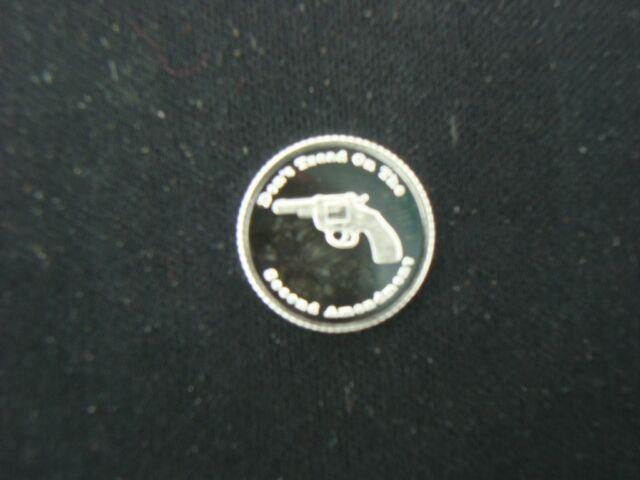 1 GRAM .999 SILVER 2nd AMENDMENT REVOLVER PISTOL ROUND COIN SMITH RUGER GUN