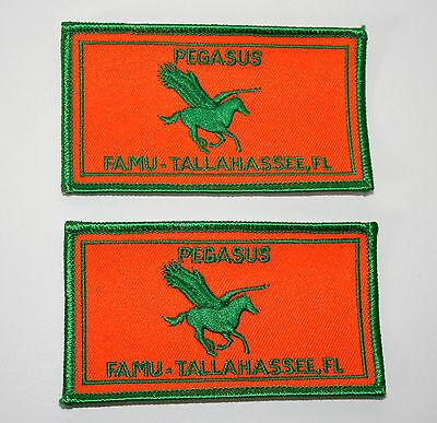 2 Vintage Florida Agriculture Mining University Pegasus Patch New NOS 1970s FAMU