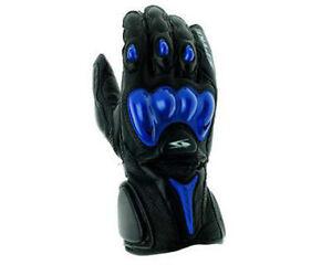 GUANTES-GUANTE-PIEL-MOTO-SPYKE-T-TORSIoN-con-PROTECCIONES-R-GIDO-negro-azul-XXXL