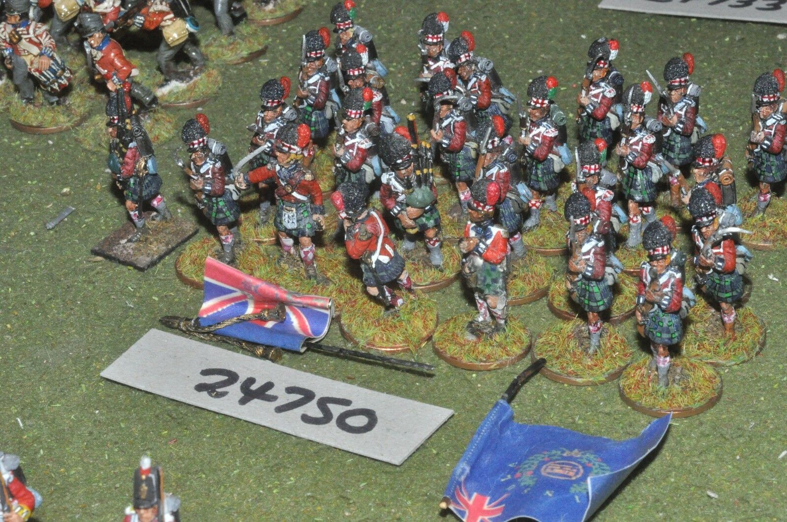 25mm napoleonic   british - highlanders 25 figures - inf (24750)