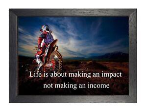 Detalles De 8 Motocross Obra De Arte Inspiradora Imagen Frase Motivación Bici Sports