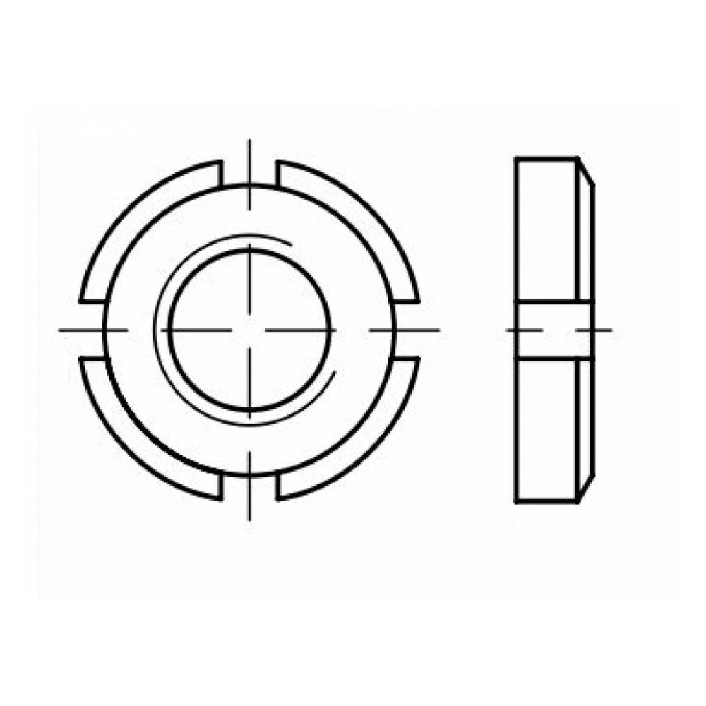 DIN 981 Nutmutter Feingewinde M 120 x 2, Stahl blank