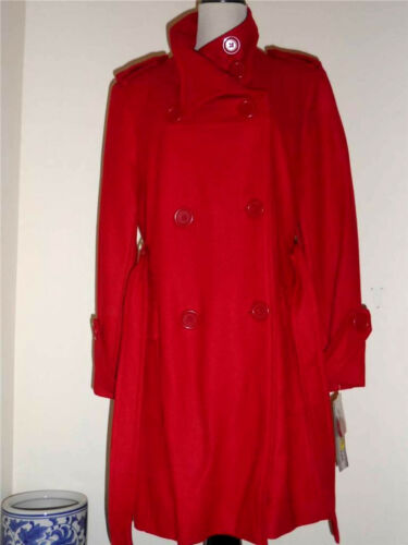 Nwt Collection 12pcs Manteau mélangée Rouge laine en attrayant Très avec ceinture r6qr8dw