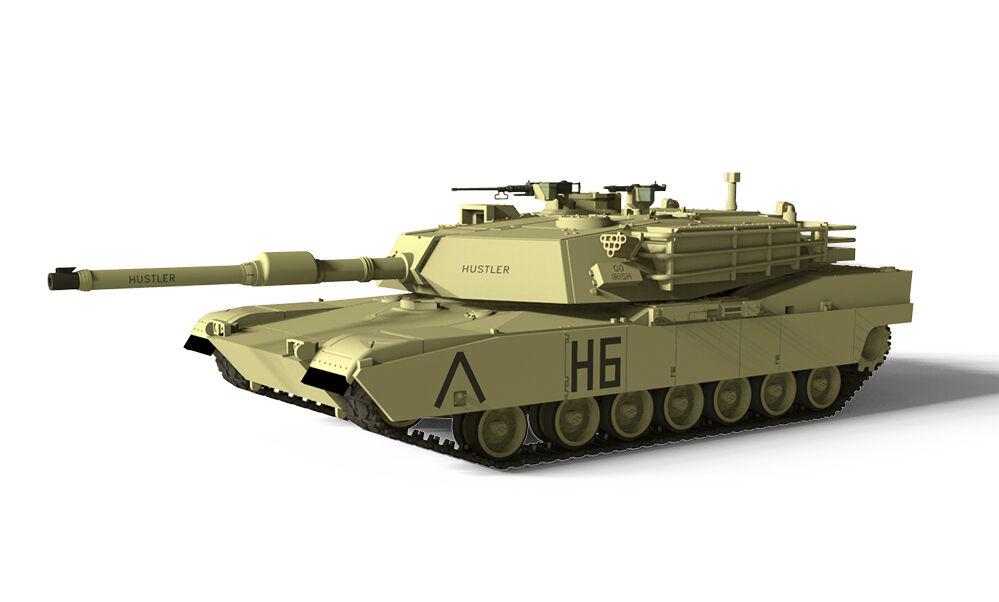 Waltersons 1 72 nos MBT M1A1 Abrams Desert amarillo Tanque De Control Remoto-Rc adicto