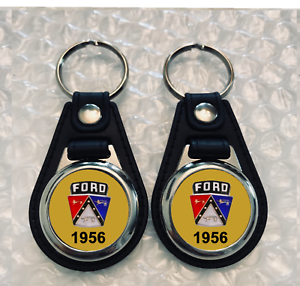 1956 FORD CREST KEYCHAIN 2 PACK GOLD
