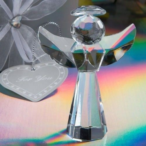60 Crystal Angel Statues Christening Baptism Baby Shower Religious Party Favors