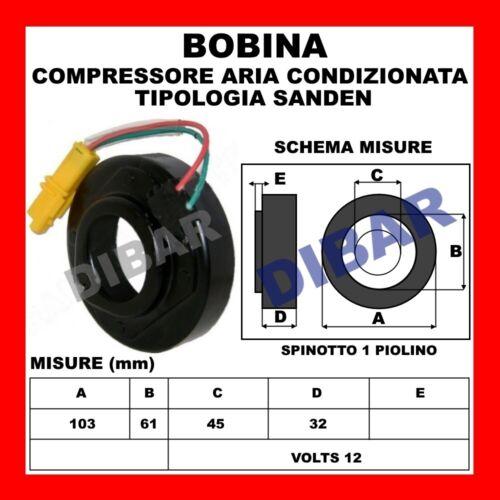 BOBINA COMPRESSORE AC 14638 CITROEN BERLINGO-C2-C3-XSARA 1.1-1.4-1.6 SD6V121927