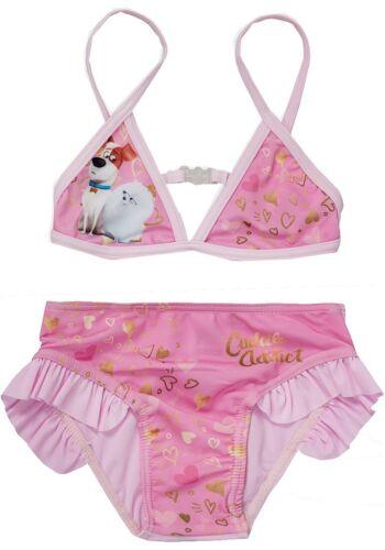 Le ragazze la vita segreta di animali domestici Swim Wear Costume Da Bagno 2 PZ BIKINI COSTUME DA BAGNO