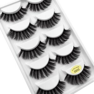 5-Pairs-3D-False-Eyelashes-Mink-Wispy-Cross-Long-Thick-Soft-Fake-Eye-Lashes