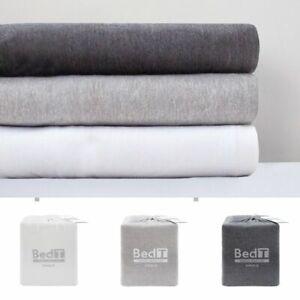 Bambury-BedT-100-Cotton-Jersey-T-Shirt-Sheet-Set-King-Queen-Double-King-Single