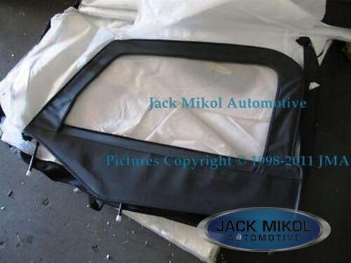 Driver Side Complete Skin Upper Door Front Window Metal Frame Black 97-06 Jeep