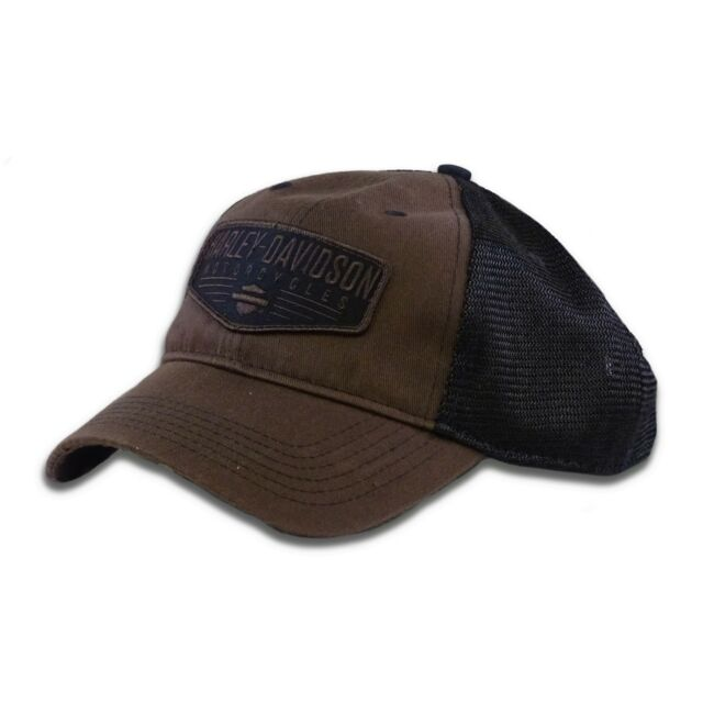1d09cf283f2 Harley-Davidson Men s Renowned Patch Baseball Cap Brown Stone Washed ...